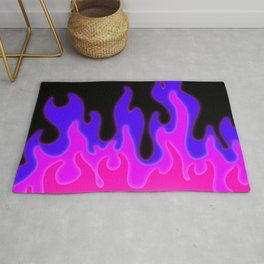 Bright Pink and Purple Flames! Rug