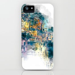 Houses village coast Italy iPhone Case
