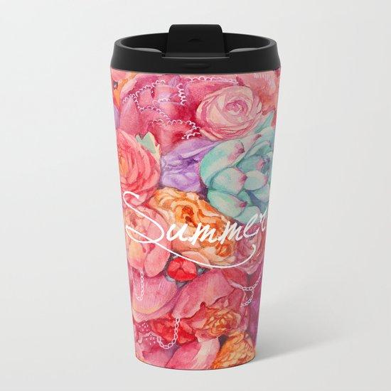 Summer bouquet Metal Travel Mug