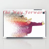 hiphop iPad Cases featuring Famous humourous quotes series: The way forward. Exploding hiphop dancer  by PhotoStock-Israel