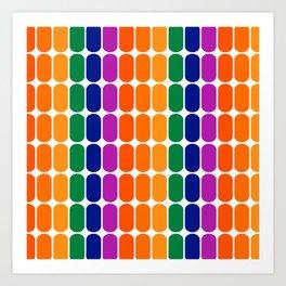 Rainbow Capsule Art Print