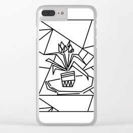 Flowers on the window -coloring Clear iPhone Case