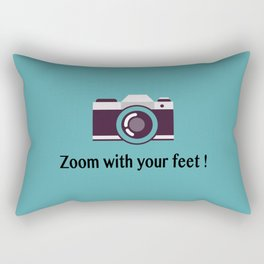 Zoom with your feet Rectangular Pillow