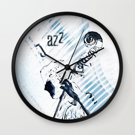 Double Bassist Wall Clock
