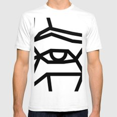 SMBB92 White SMALL Mens Fitted Tee