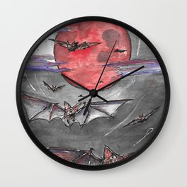 Bat Moon Wall Clock