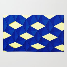 Trapez 2/5 Blue & Yellow by Brian Vegas Rug