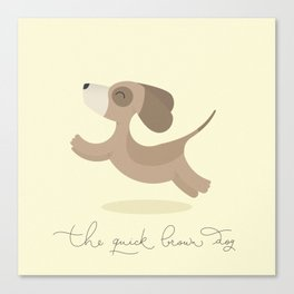The quick brown dog Canvas Print