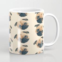 cartoon cute puppy dog fawn pug pattern Coffee Mug