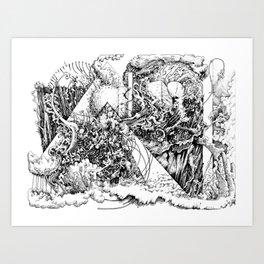 symptomatic recline Art Print