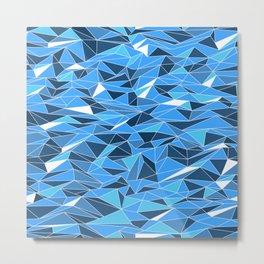 Geometric Seascape Metal Print