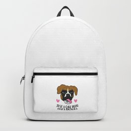 Just a Girl Who Loves Boxers Cute Boxer Girl Backpack