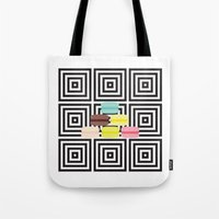 macarons Tote Bags featuring macarons by antoloxia