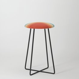 Retro 70s Color Palette III Counter Stool