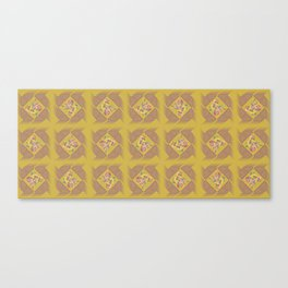 Wheat Check in Mustard Canvas Print