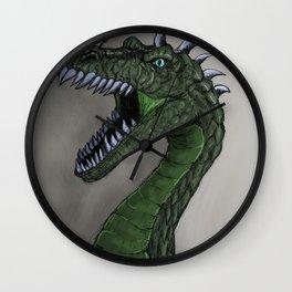 pure emerald dragon Wall Clock