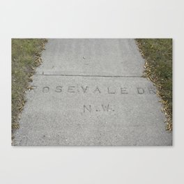Rosevale Dr NW Canvas Print