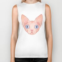 sphynx Biker Tanks featuring Sphynx by Delia Evin