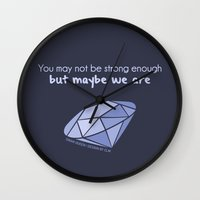 swan queen Wall Clocks featuring Swan Queen Quote (OUAT) by CLM Design
