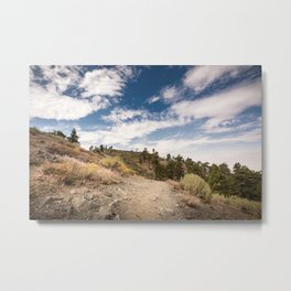 Hiking trail along Pacific Crest Trail in Southern California Metal Print