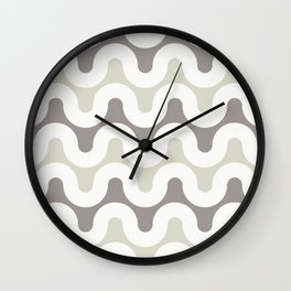 Analog in Taupe Wall Clock