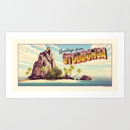 stubbonga towel Art Print