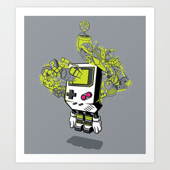 Pixel Dreams Art Print