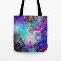 nebula Tote Bags featuring Fox Nebula by Starstuff
