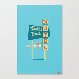 Save the Signs on Colfax: Trails End Motel Canvas Print