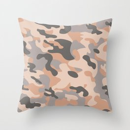 NUDE CAMO Throw Pillow