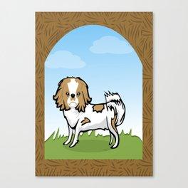Brown Chin Dog Canvas Print