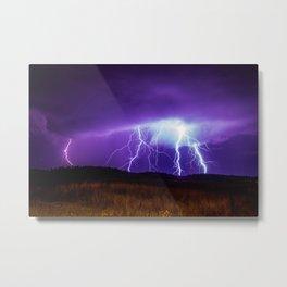 Foothills Lightning Metal Print