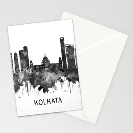 Kolkata West Bengal Skyline BW Stationery Cards