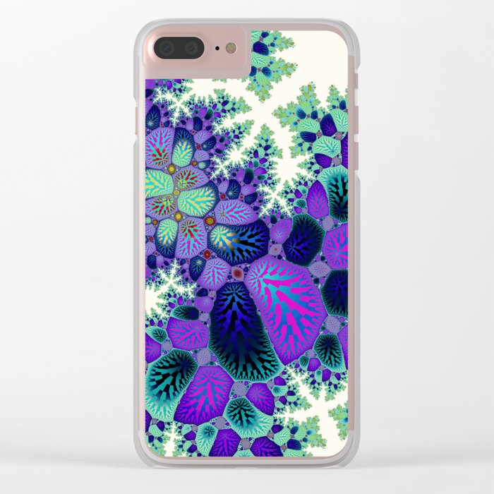 Leafy Nosegay Fractal Clear iPhone Case