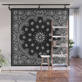 Bandana Black - Traditional Wall Mural