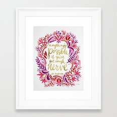 Anything's Possible – Gold & Red Framed Art Print