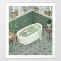 Bathtime Art Print
