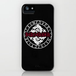 Berserk Viking Germanic design with runes iPhone Case