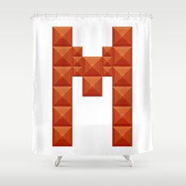 "Letter ""M"" print in beautiful design Fashion Modern Style Shower Curtain"