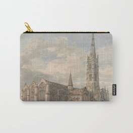 """J.M.W. Turner """"North East View of Grantham Church, Lincolnshire"""" Carry-All Pouch"""