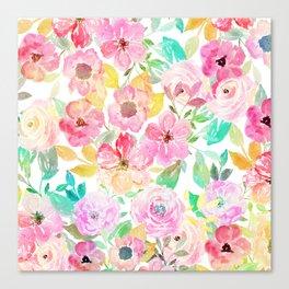 Classy watercolor hand paint floral design Canvas Print