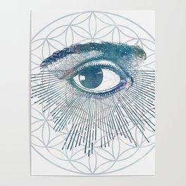 Mandala Vision Flower of Life Poster