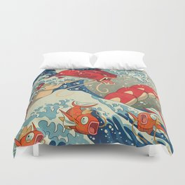 The Great Red Wave I Duvet Cover