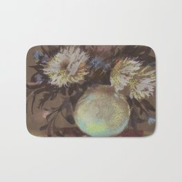 Asters. Bouquet in a Vase. Flowers Bath Mat
