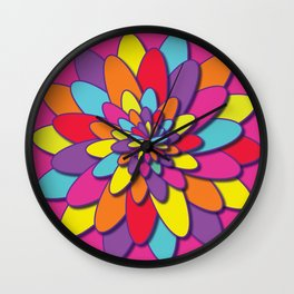 Many colors of spring Wall Clock