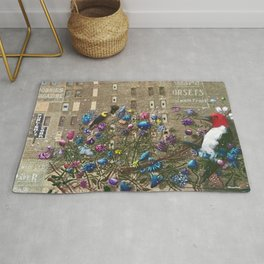 'From Doom to Bloom' Cityscape Photograph Rug