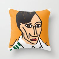 picasso Throw Pillows featuring Picasso by John Sailor