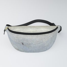 Plight of the Lonely Skier, Snowy Alpine Landscape by Cuno Amiet Fanny Pack