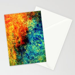 Abstract painting orange blue Stationery Cards