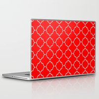 moroccan Laptop & iPad Skins featuring Moroccan Red by Jenna Mhairi